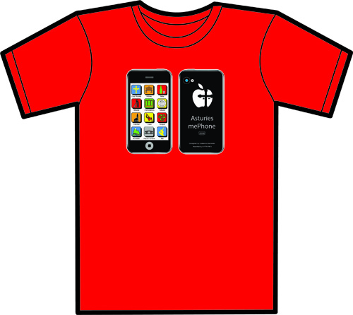 CAMISETA ADULTO ASTURIES ME PHONE