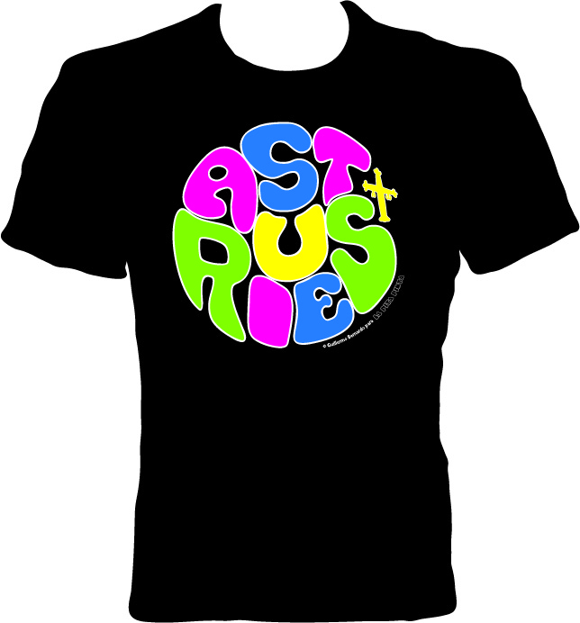 CAMISETA ADULTO LETRAS COLORES